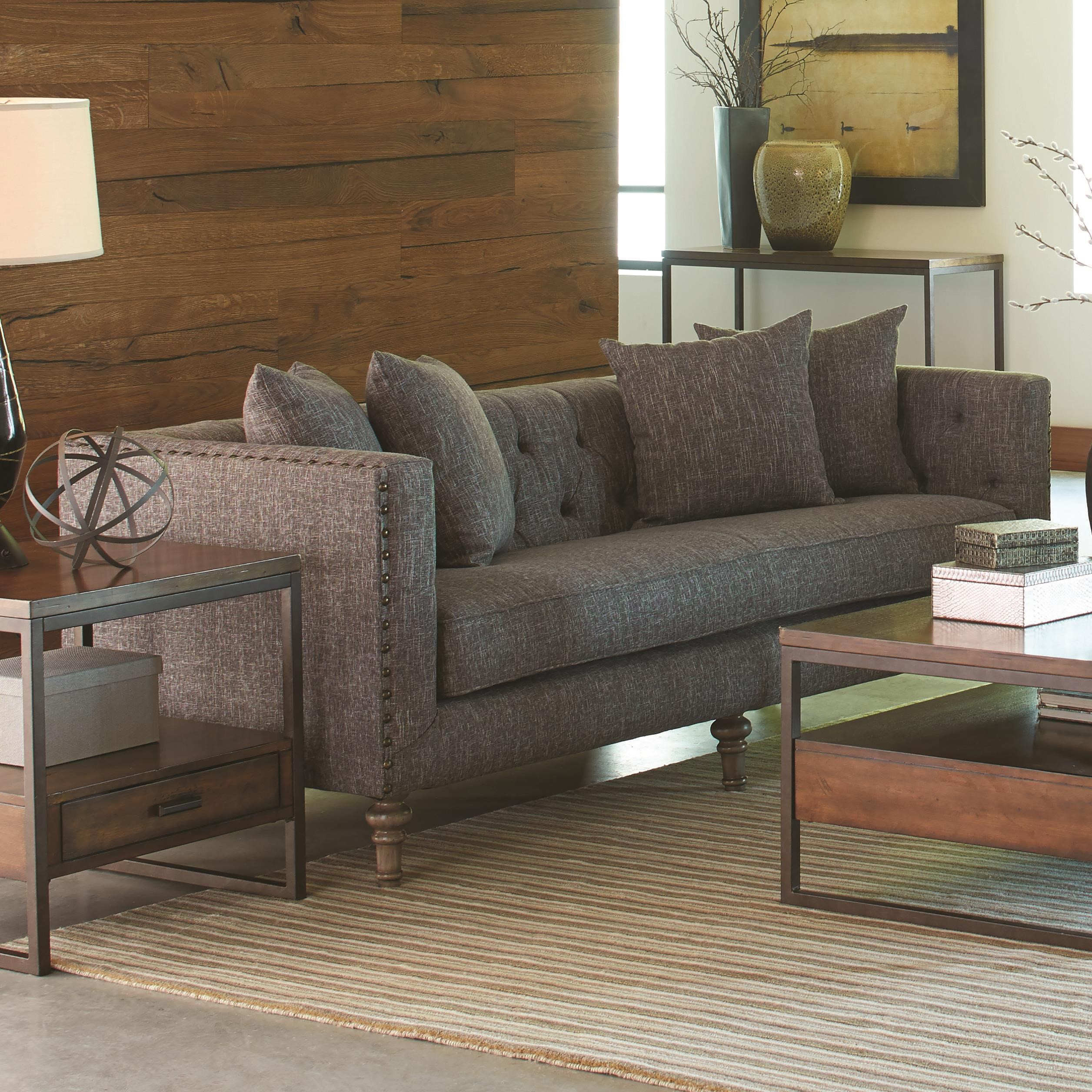 Charmant Coaster Ellery Sofa With Traditional Industrial Style   Coaster Fine  Furniture