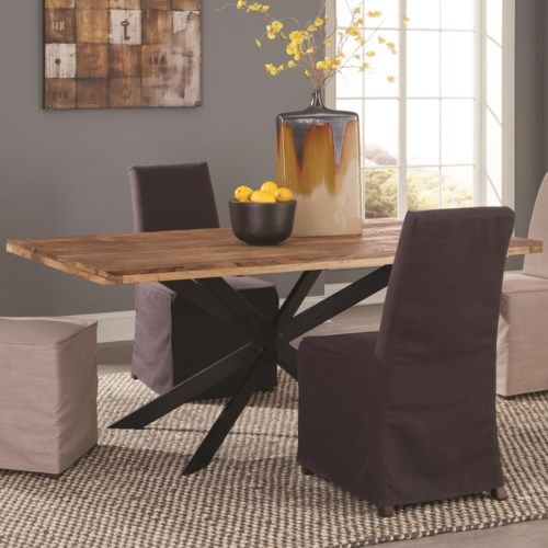 Coaster Galloway Dining Table in Rustic Natural Wood Finish ...