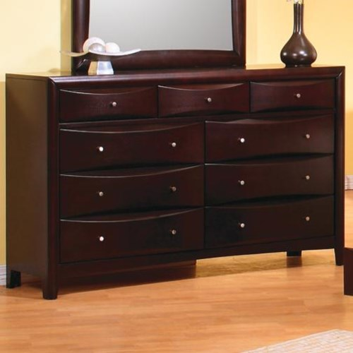 Coaster Phoenix Contemporary 9 Drawer Dresser Coaster