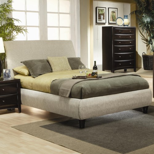 Coaster Phoenix King Contemporary Upholstered Bed - Coaster Fine ...