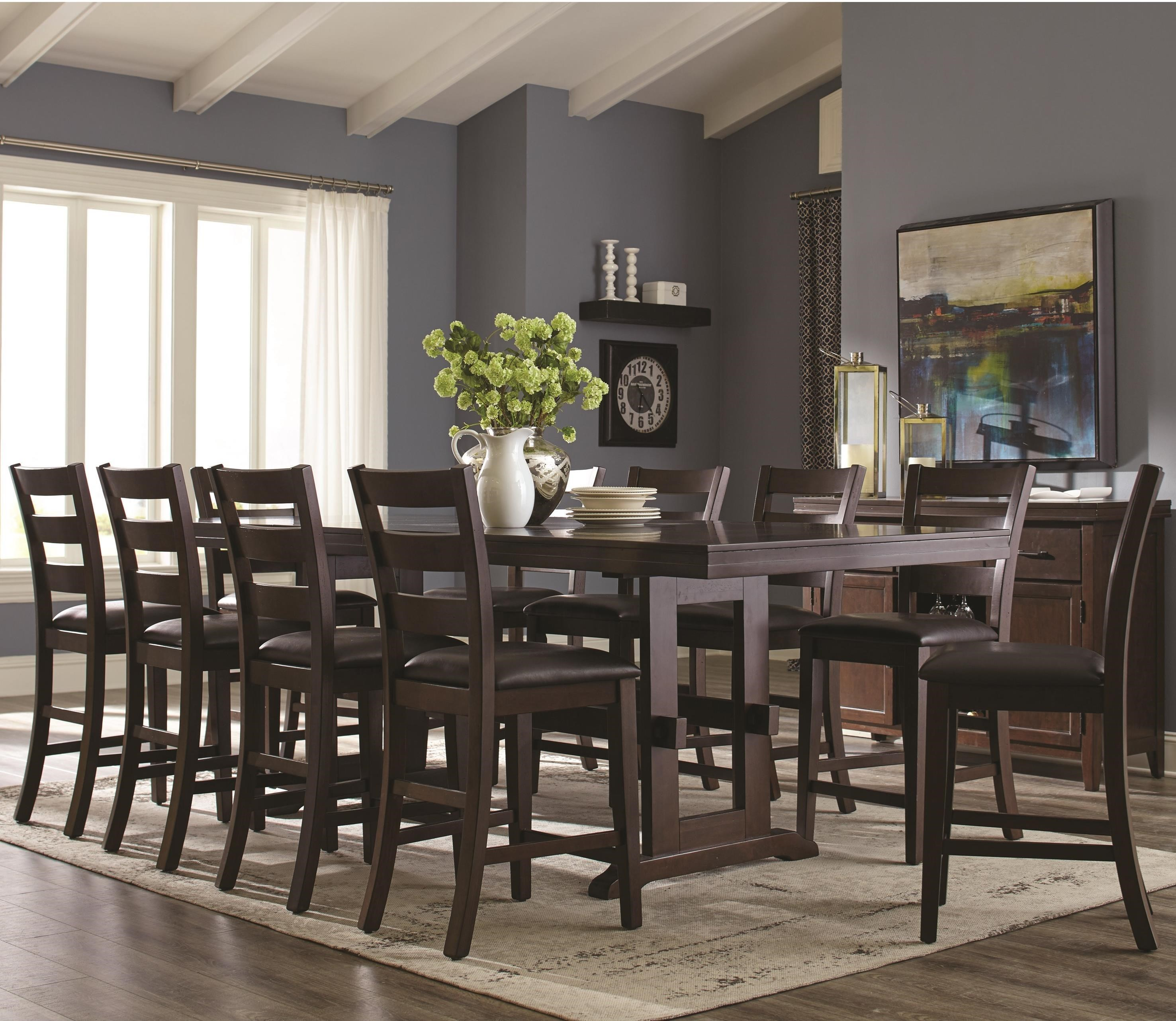 Coaster Holbrook 11 Piece Counter Height Table And Ladder Back Chair Set    Coaster Fine Furniture