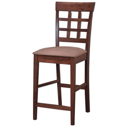 Coaster mix match 24 wheat back bar stool with fabric for Dining room sets with matching bar stools