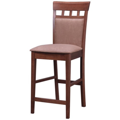 Coaster mix match 24 upholstered panel back bar stool for Dining room sets with matching bar stools