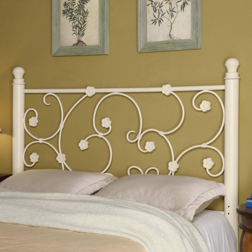 coaster iron beds and headboards fullqueen white metal headboard with elegant vine pattern coaster fine furniture