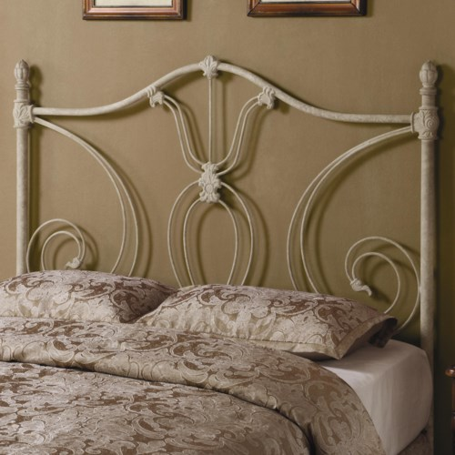 coaster iron beds and headboards fullqueen white metal headboard coaster fine furniture - White Iron Bed Frame Queen