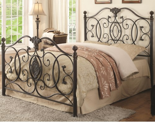 coaster iron beds and headboards gianna king iron bed with scroll, Headboard designs