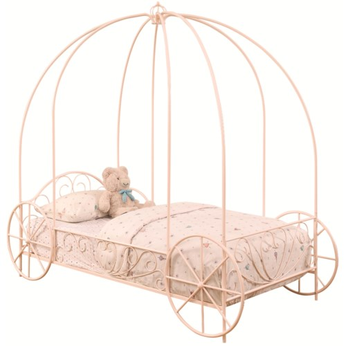 Coaster Iron Beds and Headboards Twin Massi Canopy Carriage Bed ...