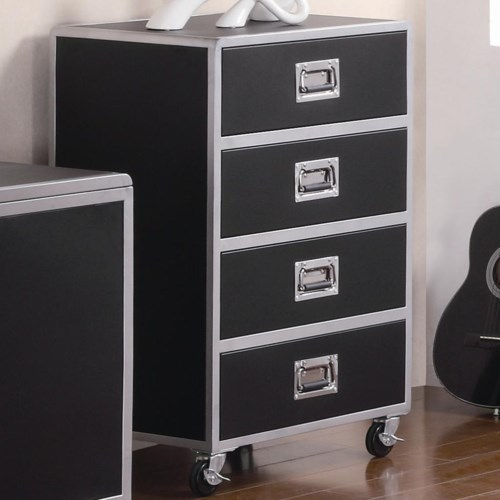 Coaster Leclair 4 Drawer Chest With Casters Coaster Fine
