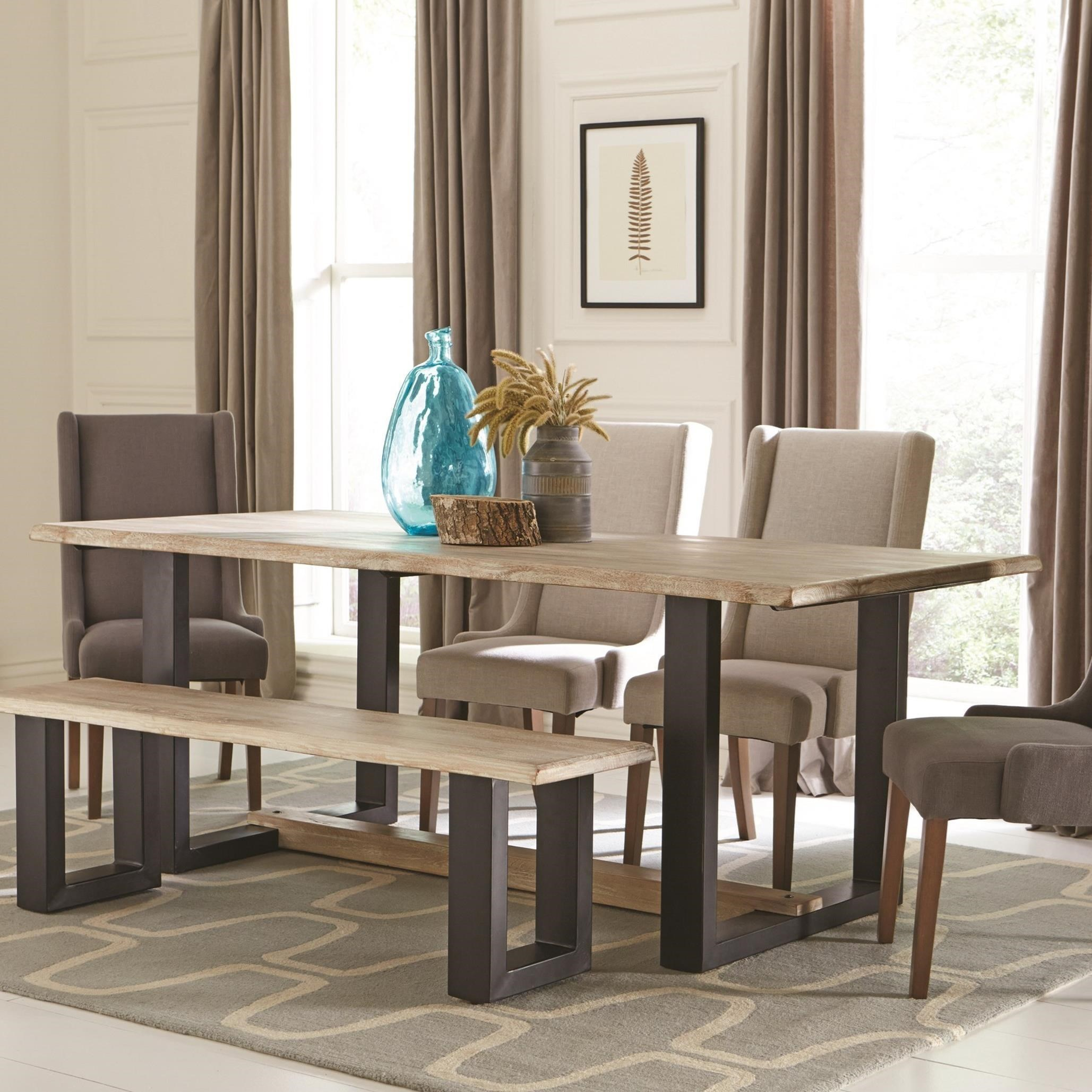 Coaster Levine Contemporary Dining Table With U Shaped Base   Coaster Fine  Furniture