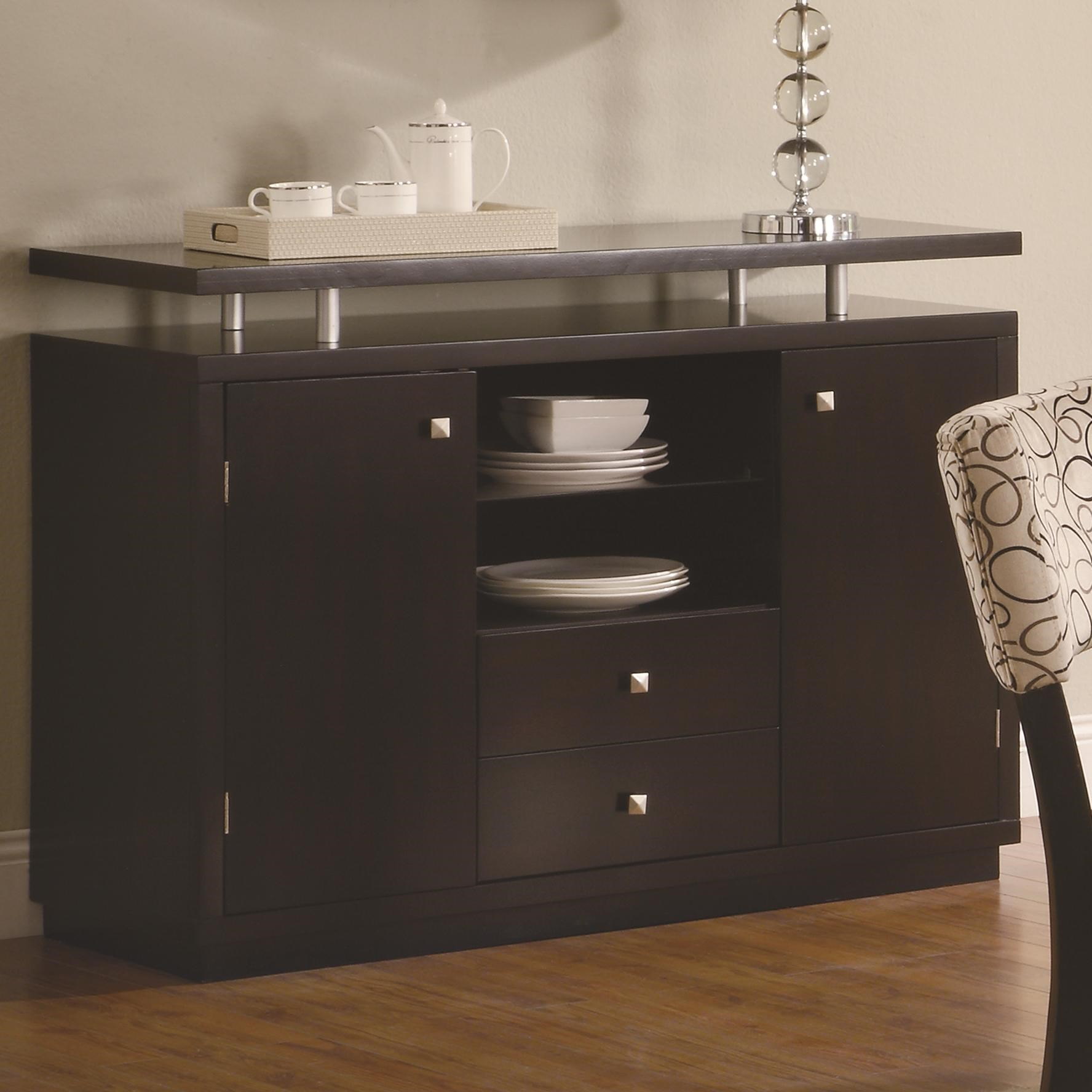 Coaster Libby 2 Door Dining Server Buffet With Floating Top   Coaster Fine  Furniture