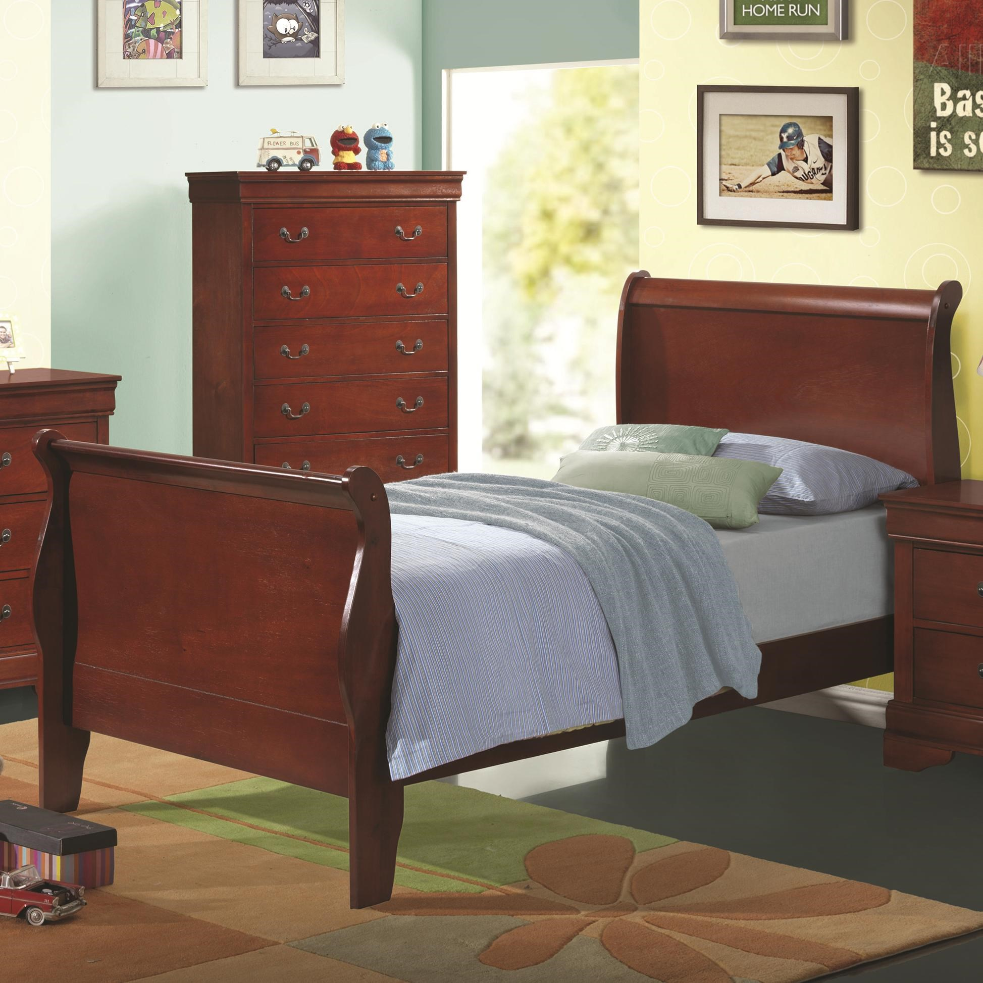 bed shown may not represent size indicated - Twin Sleigh Bed