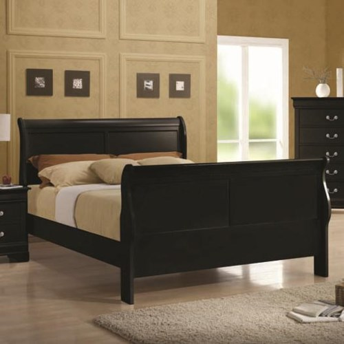 Coaster Louis Philippe Queen Sleigh Panel Bed - Coaster Fine Furniture