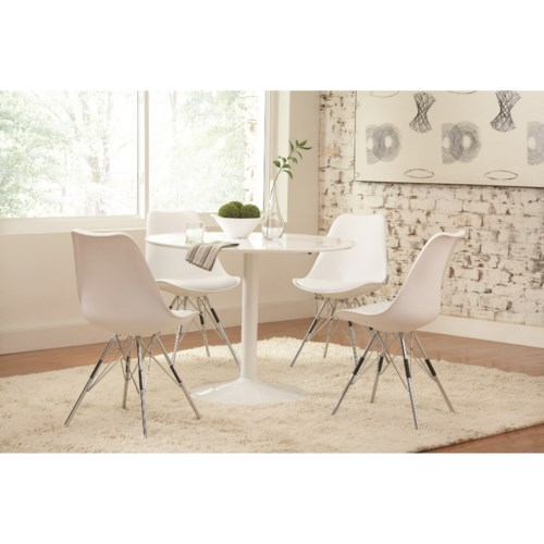 Coaster Lowry Contemporary Table And Chair Set Coaster