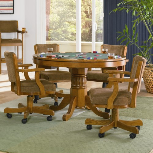 Coaster Mitchell 5 Piece 3 In 1 Game Table Set