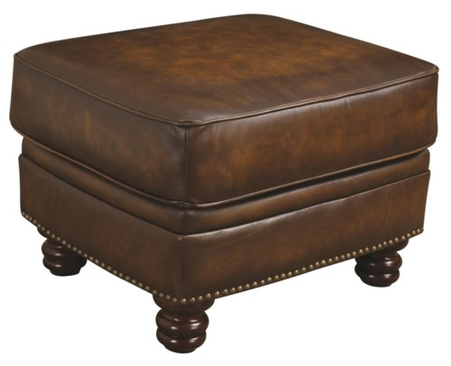 Coaster Montbrook Traditional Ottoman With Nailheads