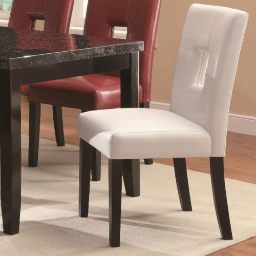 Coaster newbridge dining side chair w plush seating coaster fine furniture - Plush dining room chairs ...