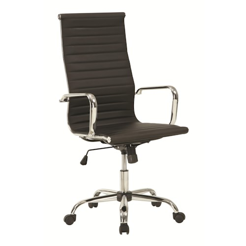 coaster office chairs sleek high back office chair with adjustable