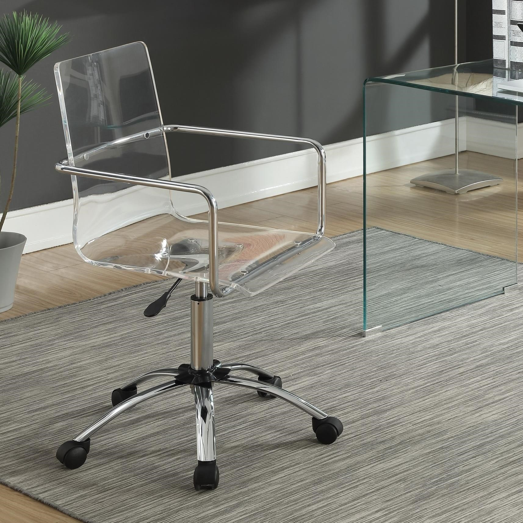 acrylic office chair. coaster office chairs acrylic chair with steel base fine furniture d