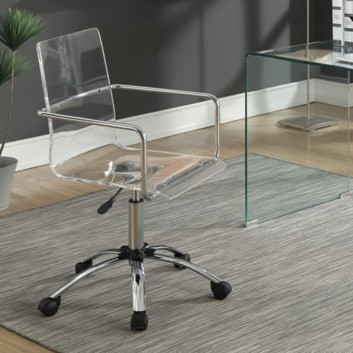 Coaster Office Chairs Acrylic Office Chair with Steel Base - Coaster Fine  Furniture