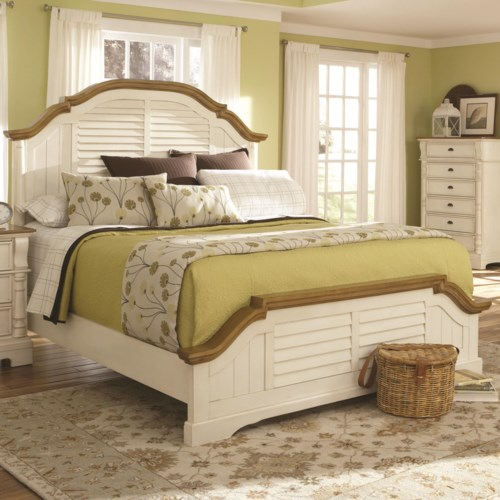 Coaster Oleta Queen Panel Bed with Shutter Detail - Coaster Fine ...