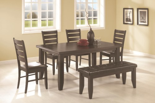 Coaster Page 6 Piece Dining Set Coaster Fine Furniture