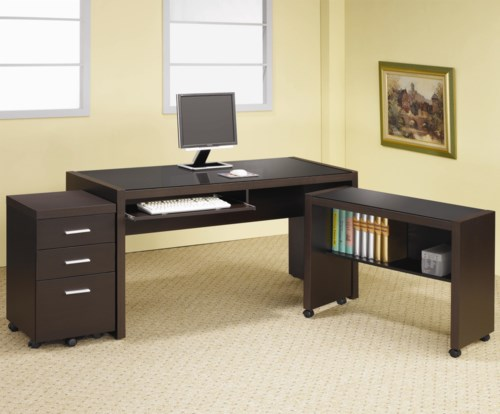 Coaster Skylar L Shape Computer Desk With Storage