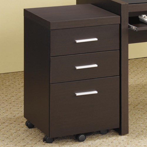 Coaster Skylar File Cabinet With 3 Drawers Coaster Fine