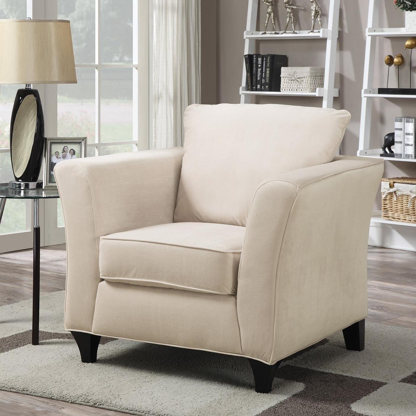 Beau Coaster Park Place Upholstered Chair With Flair Tapered Arm   Coaster Fine  Furniture