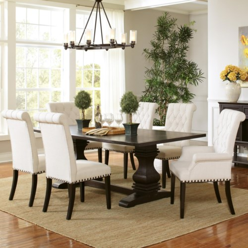 Coaster Parkins Pedestal Table And Chair Set Coaster