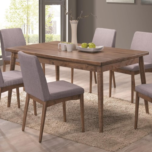 Coaster Pasquil Mid Century Modern Dining Table with Melamine Top ...