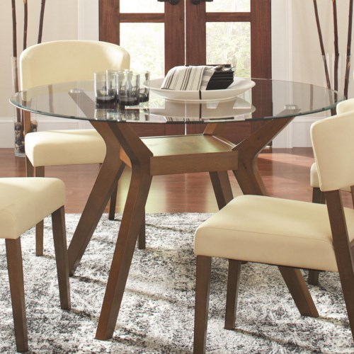 Coaster Paxton 12218 Round Glass Dining Table