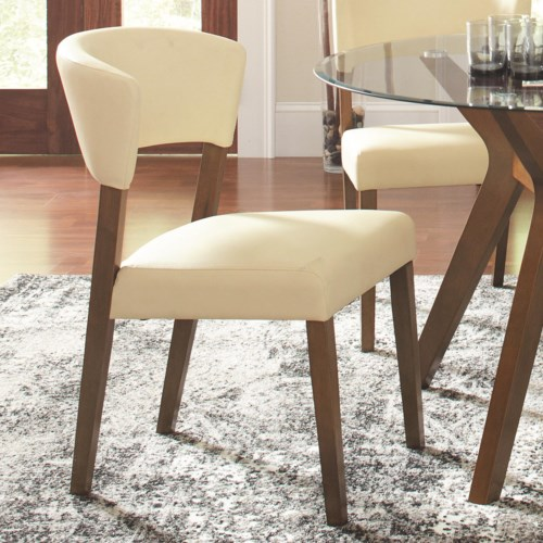 Coaster Paxton 12218 Cream Upholstered Dining Chair Coaster Fine