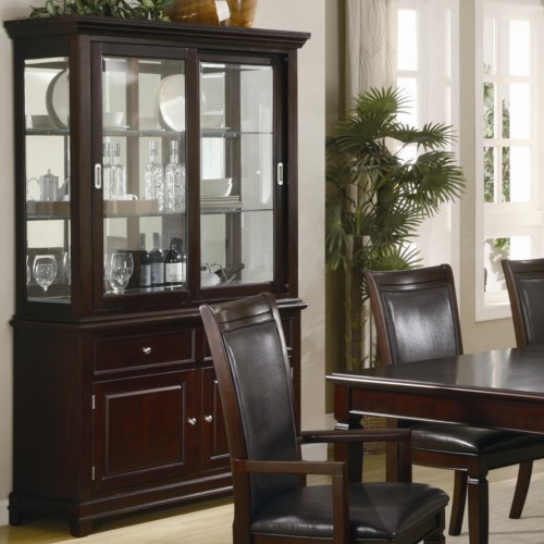 coaster ramona formal dining room buffet with hutch coaster fine furniture - Dining Room Hutch And Buffet