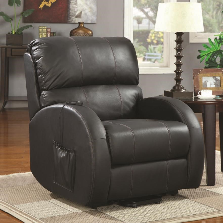 Coaster Recliners Top Grain Leather Power Lift Recliner - Coaster Fine Furniture : coaster power lift recliner - islam-shia.org