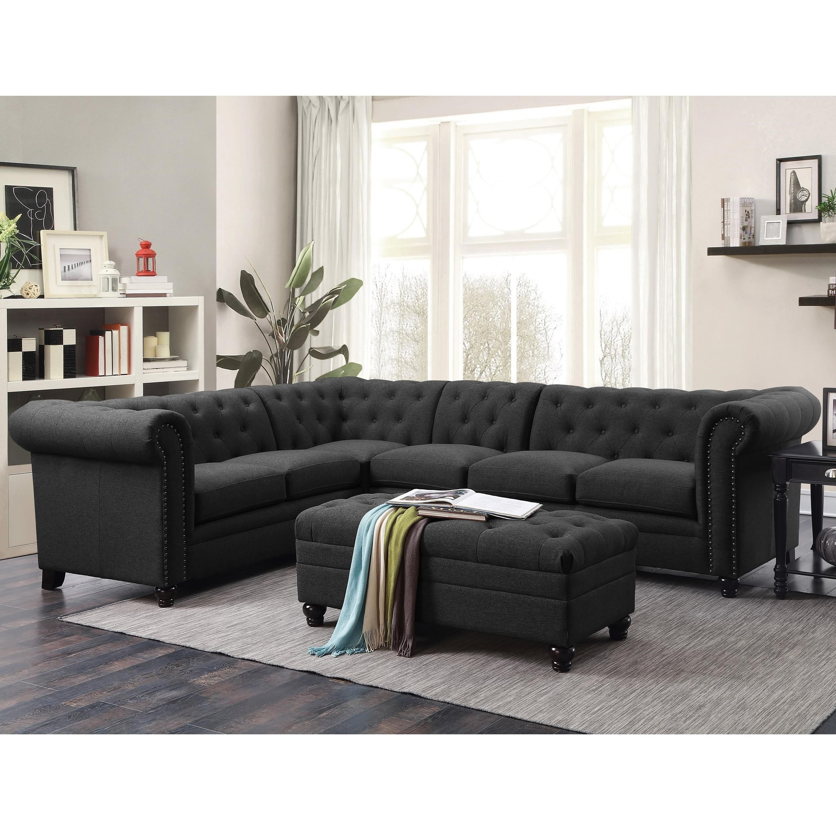 Tufted Sectional Sofa Finest Furniture Tufted Sectional Sofa