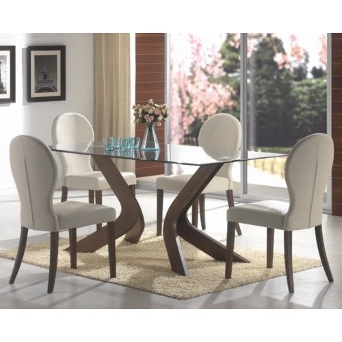 Dining Room Tables San Diego: Coaster San Vicente Five Piece Dining Set