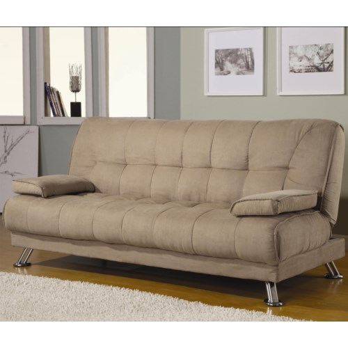 Coaster Sofa Beds And Futons Fabric Convertible Bed With Removable Armrests Fine Furniture