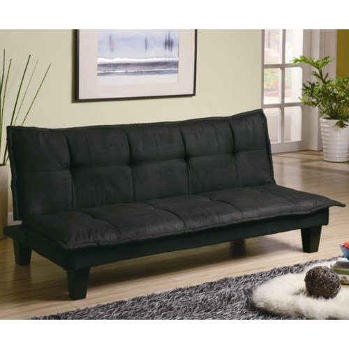 Coaster Sofa Beds And Futons Casual Padded Convertible