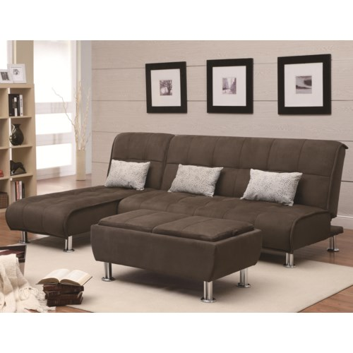 Coaster Sofa Beds And Futons Sectional Sleeper Fine Furniture