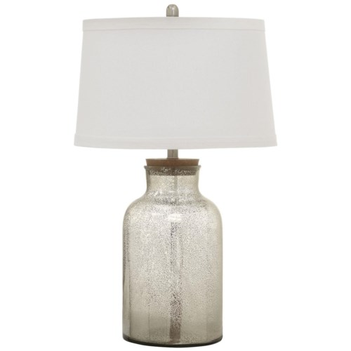 Coaster Table Lamps Mercury Glass Look Table Lamp