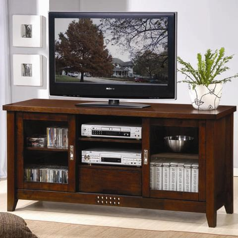 Coaster TV Stands Transitional Media Cosole With Doors And