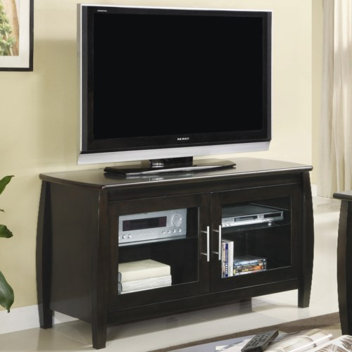 Coaster TV Stands Contemporary Media Console with Glass Doors