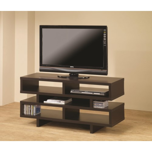 Coaster TV Stands Contemporary TV Console with Open Storage ...