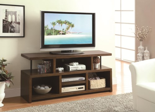 Coaster Tv Stands Casual Tv Console With Open Storage