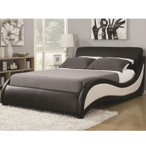 Bed Shown May not Represent Size Indicated. Coaster Upholstered Beds Queen Niguel Modern Upholstered Bed