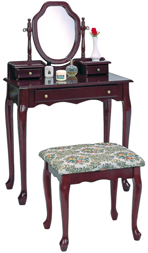 Coaster Vanities Traditional Vanity And Stool With