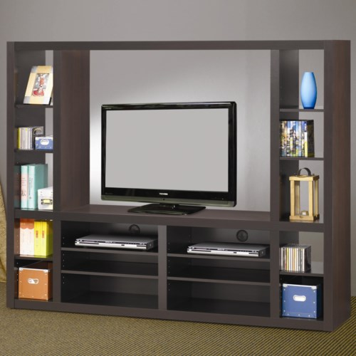 Coaster Entertainment Units Contemporary Entertainment Wall Unit ...