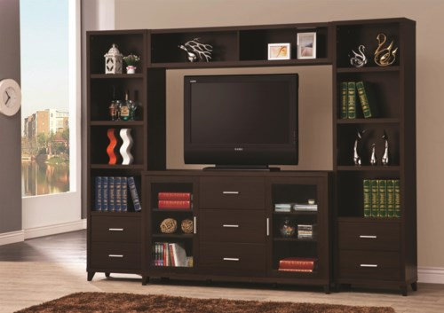Coaster Entertainment Units Cappuccino Entertainment Wall