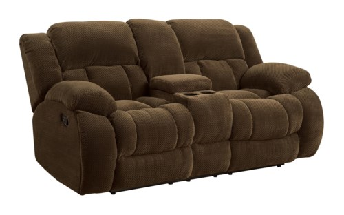 Coaster Weissman Casual Pillow Padded Reclining Loveseat with