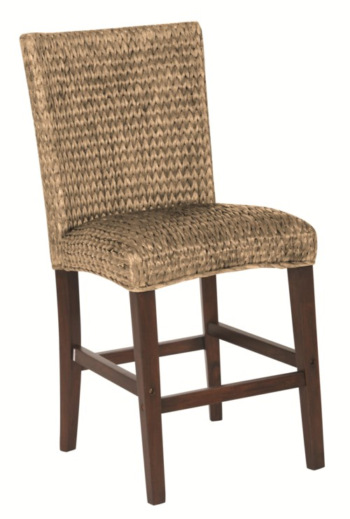 Coaster Westbrook Dining Casual Woven Counter Height Stool